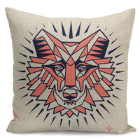 "18"" Geometric animal print Home Decorative Throw Pillow Case Sofa Cushion Cover"