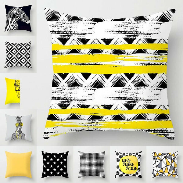"18"" Cushion Cover Geometric Pillow Case Pillowcase Car Sofa Bed Home Decor Gifts"