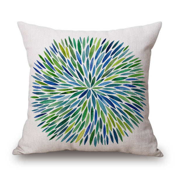 "18"" Geometric Print Cotton Linen Pillow Case Cushion Cover Sofa Home Decor"