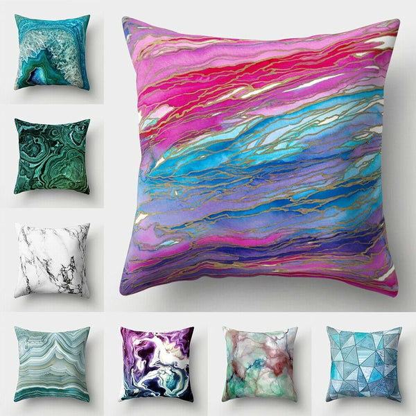 "18"" Geometric Marble Texture Throw Pillow Case Cushion Cover Sofa Home Decor"