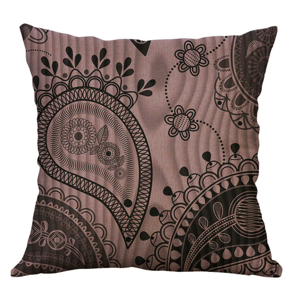 18'' Geometric Cushion Case Home Decoration Cotton Linen Cushion Cover Gift