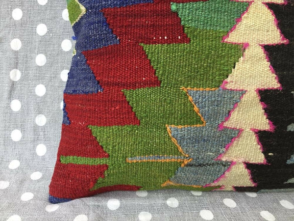 16x16 vintage kilim cushion cover Turkish handmade geometric pillow cover UPS