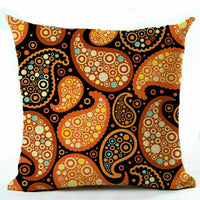 18'' Geometric Linen Pillow Case Car Sofa Waist Throw Cushion Cover Home Decor