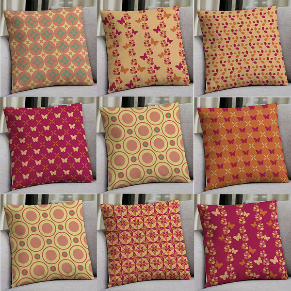18'' Geometric flower Cotton Linen Pillow Case Cushion Cover Sofa Home Decor