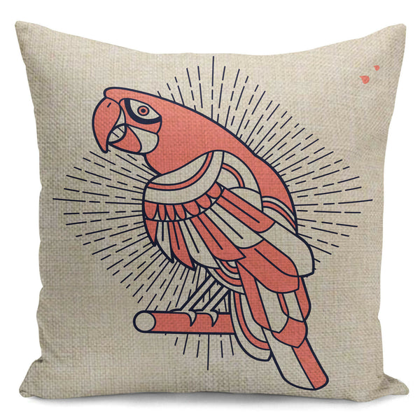 "18"" Geometric Bird print Home Decorative Throw Pillow Case Sofa Cushion Cover"