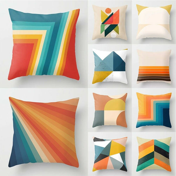 "18"" Geometric Shapes Pillowcase Sofa Car Waist Throw Cushion Cover Home Decor"