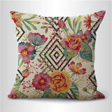 set of 2 rose garden flower geometric cushion cover home accessories