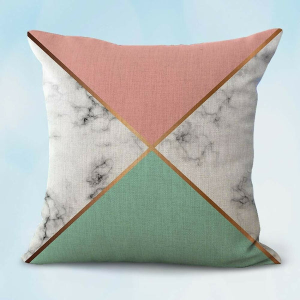 couch pillow covers marble geometric cushion cover