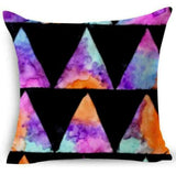 "18"" Home Case Pillow Cover Cotton Linen Decor patterns Throw Cushion Geometric"