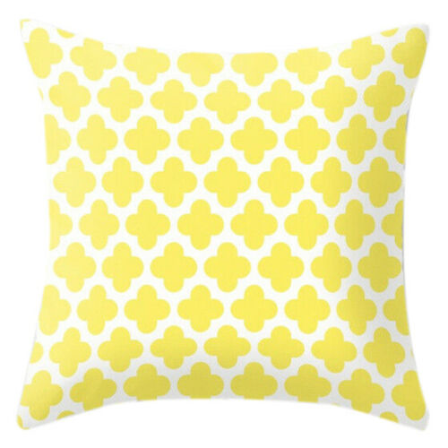Yellow pillow case cover sofa car waist throw cushion cover Home Decor Geometric