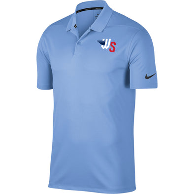 VICTORY SOLID POLO-LIGHT BLUE
