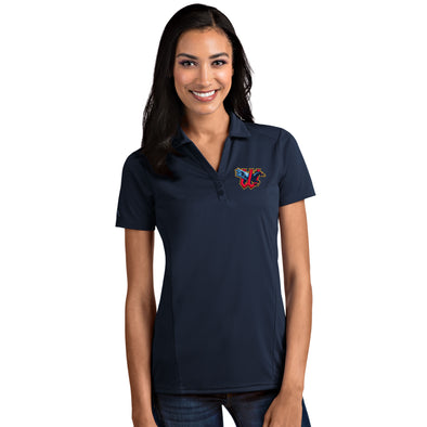 WOMENS TRIBUTE POLO-NAVY