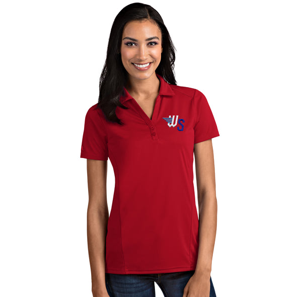 WOMENS TRIBUTE POLO-RED