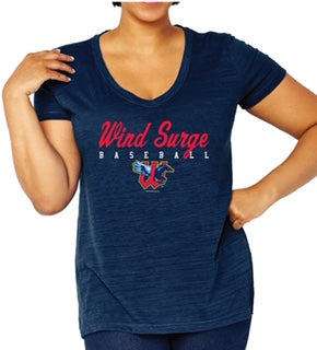 Womens Curvy V-Neck