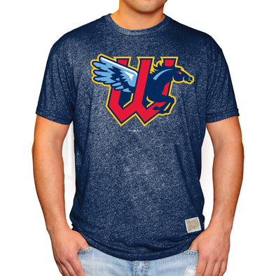 RINGER MOCK TWIST TEE-NAVY