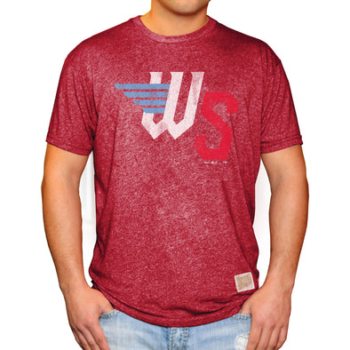 RINGER MOCK TWIST TEE-RED