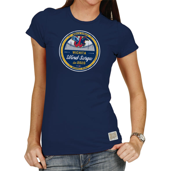 WOMEN'S BASIC TEE-NAVY