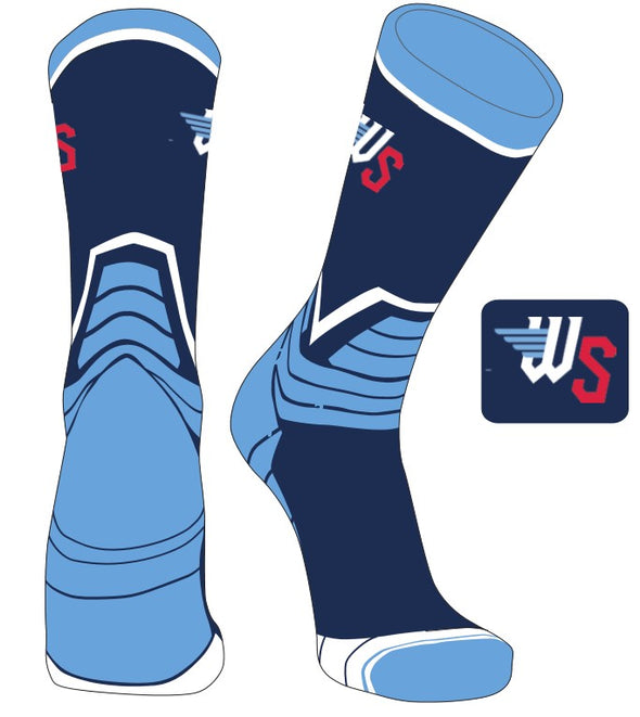 COLUMBIA BLUE VICTORY CREW SOCK