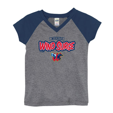 GIRLS V-NECK RAGLAN TEE