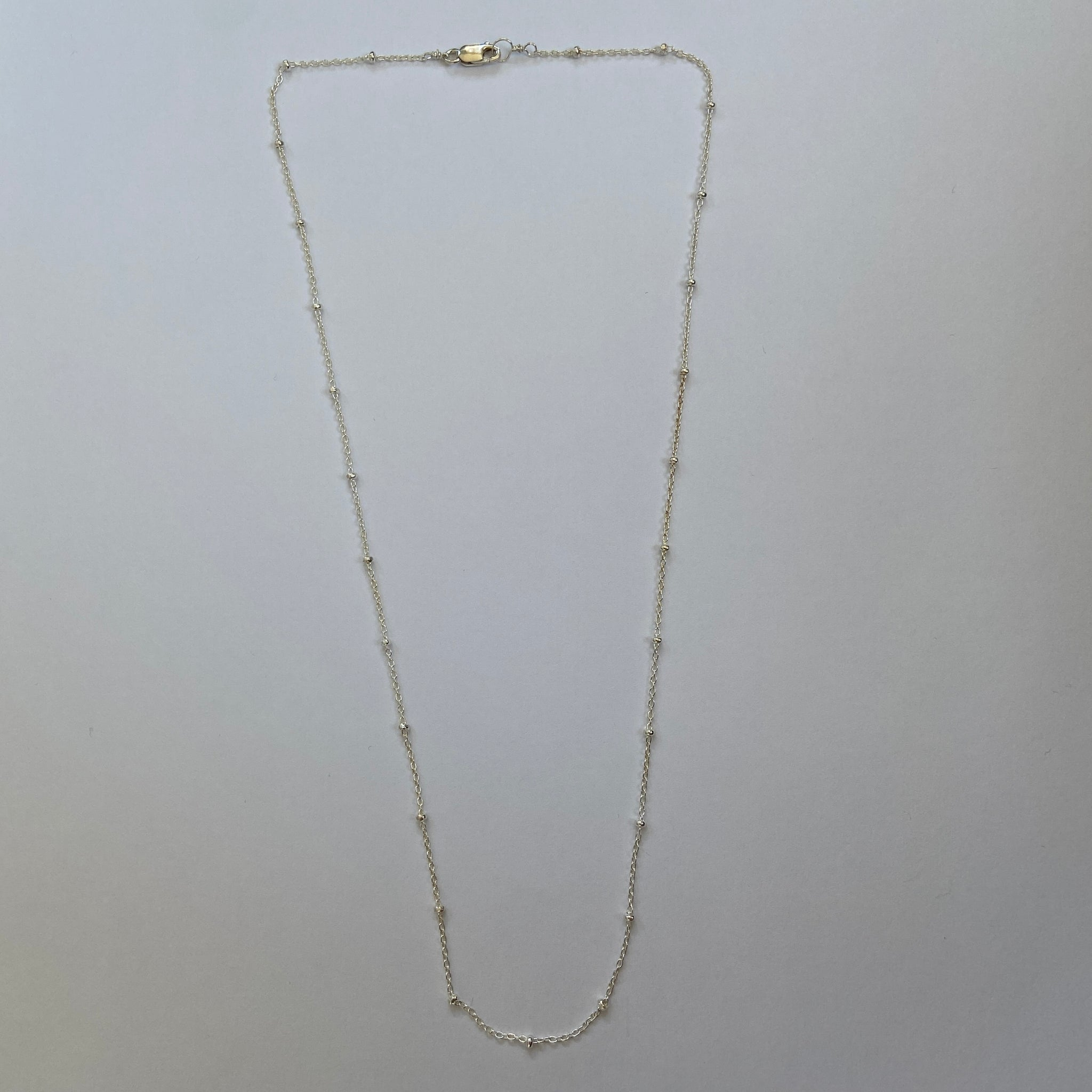 Sterling Silver Beaded Chain