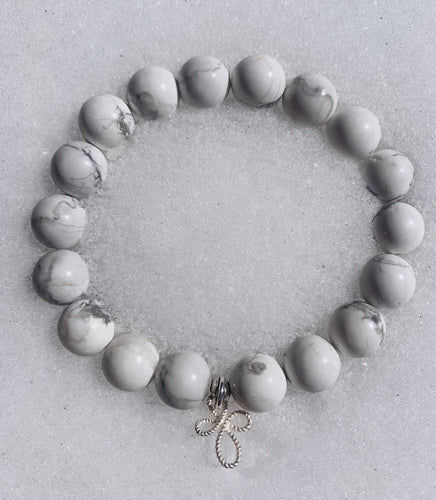 I Am Powerful ~ White Howlite Bracelet