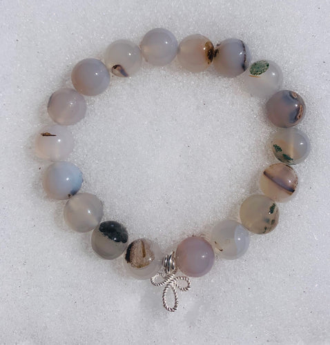 I Am Worthy ~ White Flower Agate