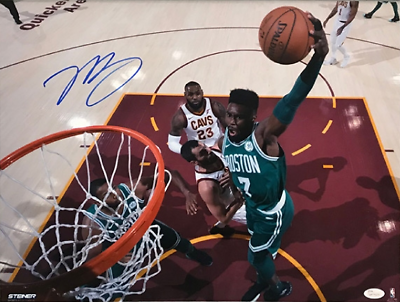 Jaylen Brown Boston Celtics Signed Autographed Dunk 16x20 Photo JSA