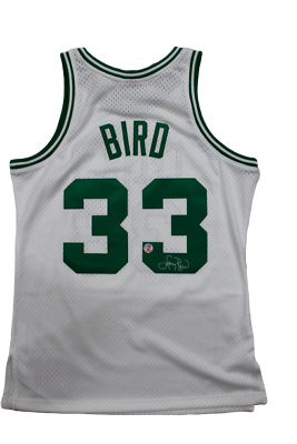 Larry Bird Boston Celtics Signed Authentic Mitchell & Ness White Jersey Holo COA