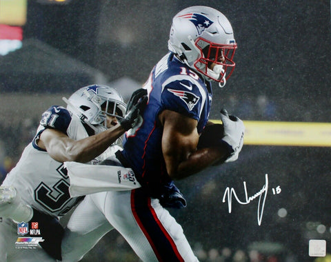 N'Keal Harry New England Patriots Signed 16x20 Photo 1st NFL Touchdown JSA