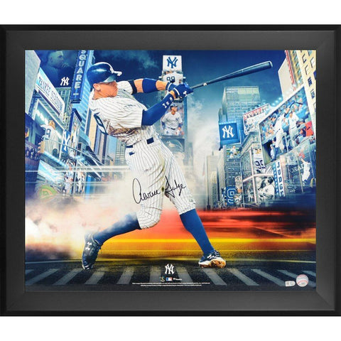Aaron Judge New York Yankees Signed Autographed 20x24 Photo Framed Fanatics