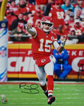 Patrick Mahomes Kansas City Chiefs Signed 16x20 Passing Photo SB MVP Fanatics