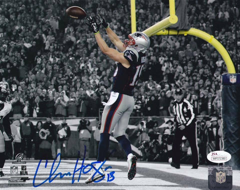 Chris Hogan New England Patriots Signed Autographed Spotlight 16x20 Photo JSA