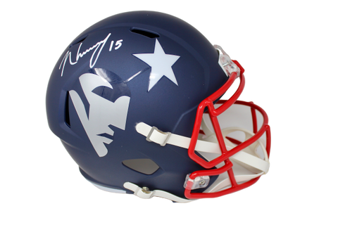 N'Keal Harry New England Patriots Signed Full Size Replica AMP Helmet JSA