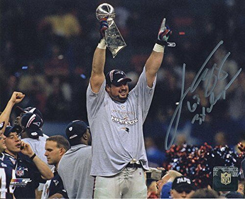 Joe Andruzzi New England Patriots Signed Autographed Super Bowl 8x10 Photo