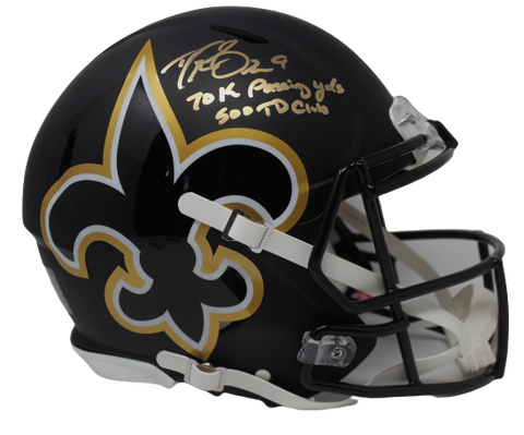 Drew Brees New Orleans Saints Signed Authentic AMP Helmet 70k 500 TD Club BAS