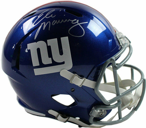 Eli Manning New York Giants Signed Full Size Replica Speed Helmet Steiner