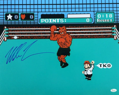 Mike Tyson Signed Autographed NES Punch-Out 16x20 Photo JSA AUTHENTIC