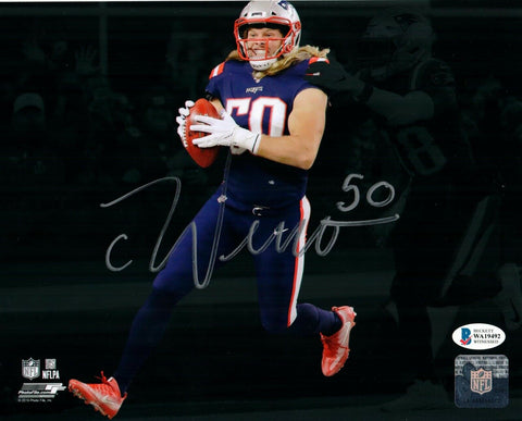 Chase Winovich New England Patriots Signed 8x10 Photo 1st TD Spotlight BAS