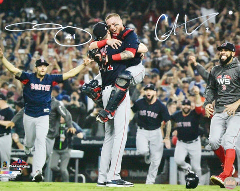 Chris Sale/Christian Vazquez Boston Red Sox Signed 16x20 Photo WS Final Out JSA
