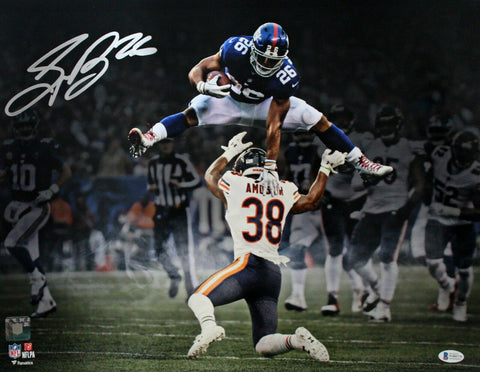 Saquon Barkley New York Giants Signed 16x20 Spotlight Hurdle Fanatics Photo BAS