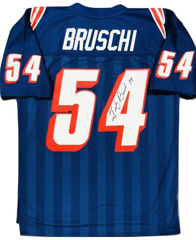 Tedy Bruschi New England Patriots Signed Authentic M&N Throwback Jersey JSA