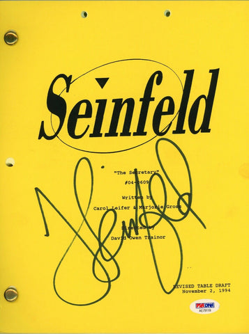 "Jerry Seinfeld Signed Table Read Full Script ""The Secretary"" Autographed PSA/DNA"