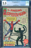 Amazing Spider-Man #3 1st DR OCTOPUS Marvel 1963 CRM/OWH Pages CGC 2.5 GD+