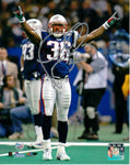 Lawyer Milloy New England Patriots Signed Autographed 8x10 Super Bowl XXXVI