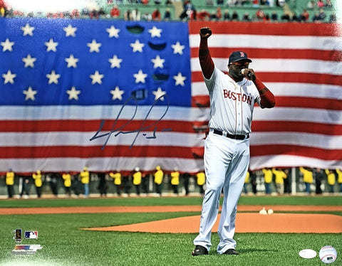David Ortiz Boston Red Sox Signed Autographed Boston Strong 16x20 Photo JSA
