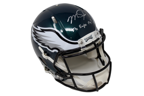"Mike Trout Philadelphia Eagles Signed Speed Authentic Helmet ""Fly Eagles"" MLB"