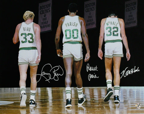 Larry Bird/Kevin McHale/Robert Parish Boston Celtics Signed 16x20 Photo Big 3 DL