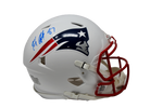 Rob Gronkowski New England Patriots Signed FS Authentic Flat White Helmet JSA