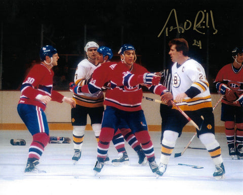 Terry O'Reilly Boston Bruins Signed Autographed Fight Canadiens 8x10 Photo