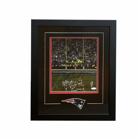 Adam Vinatieri New England Patriots Signed Autographed Snow Kick 8x10 Framed